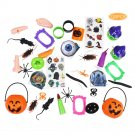 120PCS Mischievous Insect & Halloween Tricky Toys for Children's Party Games