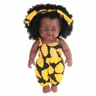 12Inch Simulation Soft Silicone Vinyl PVC Black Baby Fashion Doll Rotate 360 African Girl Perfect Re