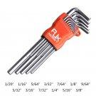"""13Pcs RJXHOBBY Hex Key Allen Wrench Set Extra-long Arm 1/20 to 3/8"""""""" Key Allen Set"""""""""""