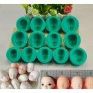 13pcs Silicone Mould Doll's Face Sugarcraft Cake Decorating Fondant Set Children Gift Early Educatio