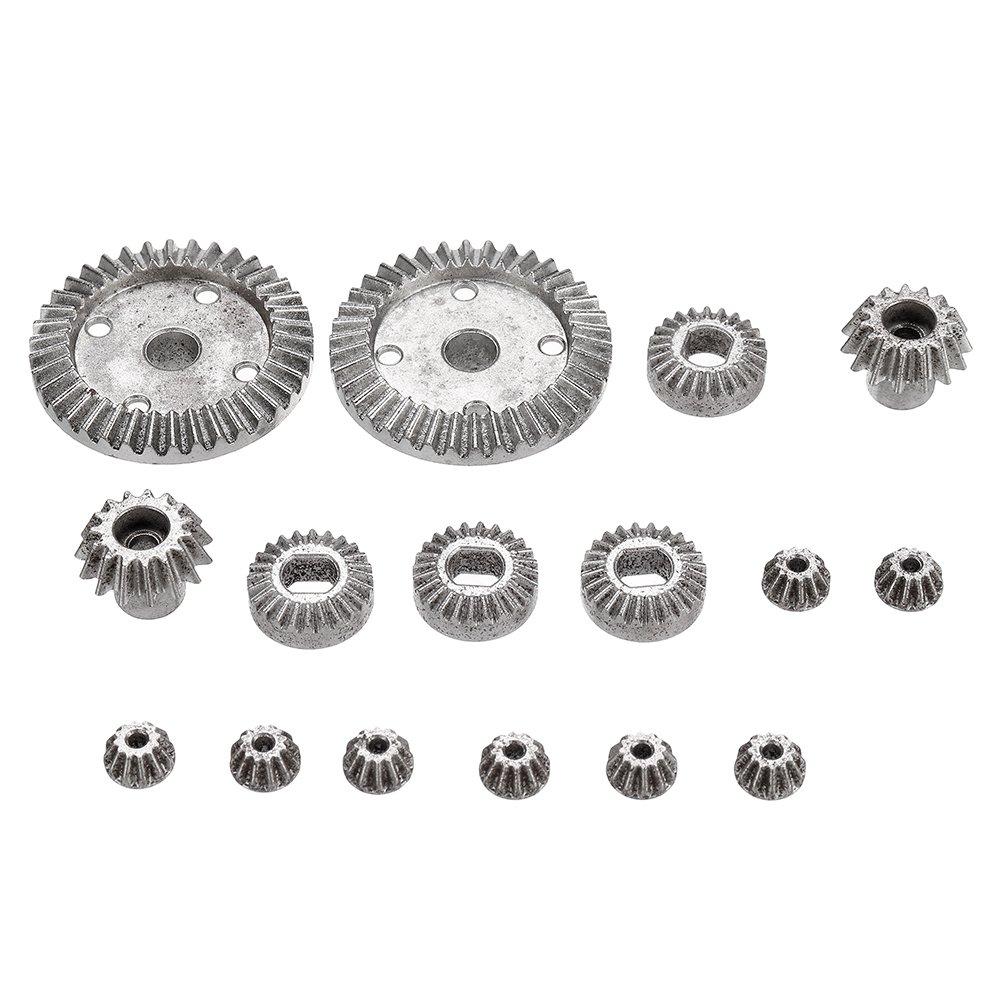 16PCS Upgrade Metal Gear for Wltoys 144001 12428-A 12428-B 12428-C /12423 Rc Car Parts