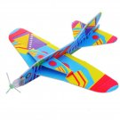 1Pc Flying PU Glider Plane Toy Gift Birthday Christmas Party Bag Filler 20.5cm Randon Color