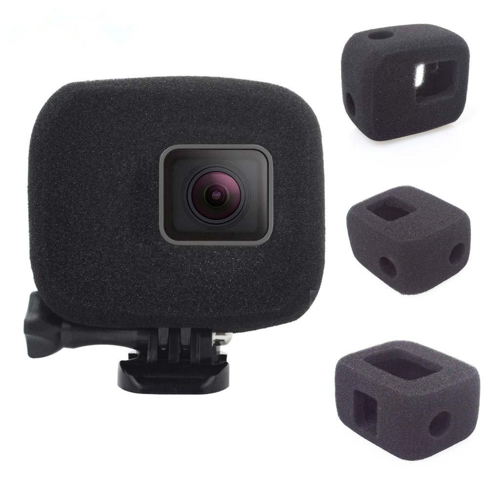 1PC Sponge Windshield Black for Gopro Hero 5/6/7 Sport Camera