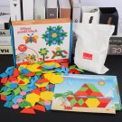 250Pcs Wooden Tangram Geometry Design Brain Training Puzzle Game Educational Toy Baby Child Kid Bloc