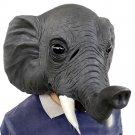 26*43*28cm Grey Elephant Environmental Protection Latex Mask for Halloween Toys