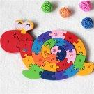 26Pcs Multicolor Letter Children's Educational Building Blocks Snail Toy Puzzle For Children Gift