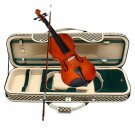 4/4 Acoustic Violin Case Fiddle Strap Box With Hygrometer Oblong Carry Case Storage