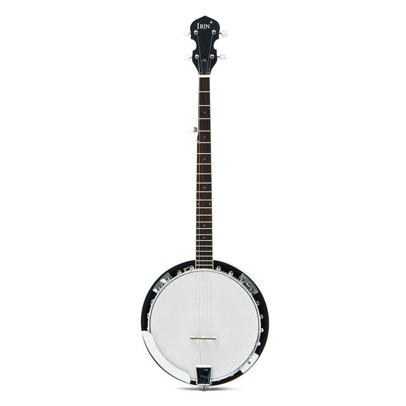 5-String 22 Fret Remo Bluegrass Banjo Guitar Mahogany Wood Traditional Western Ukulele