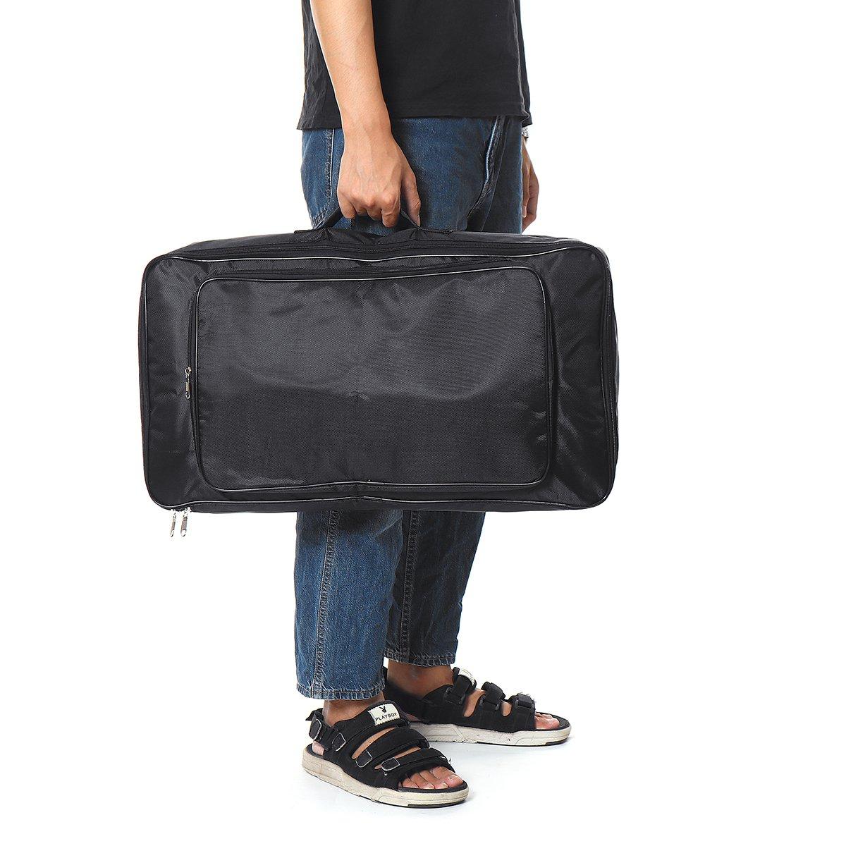 60CM Black Universal Portable Guitar Pedal Board Pedalboard DIY Bag