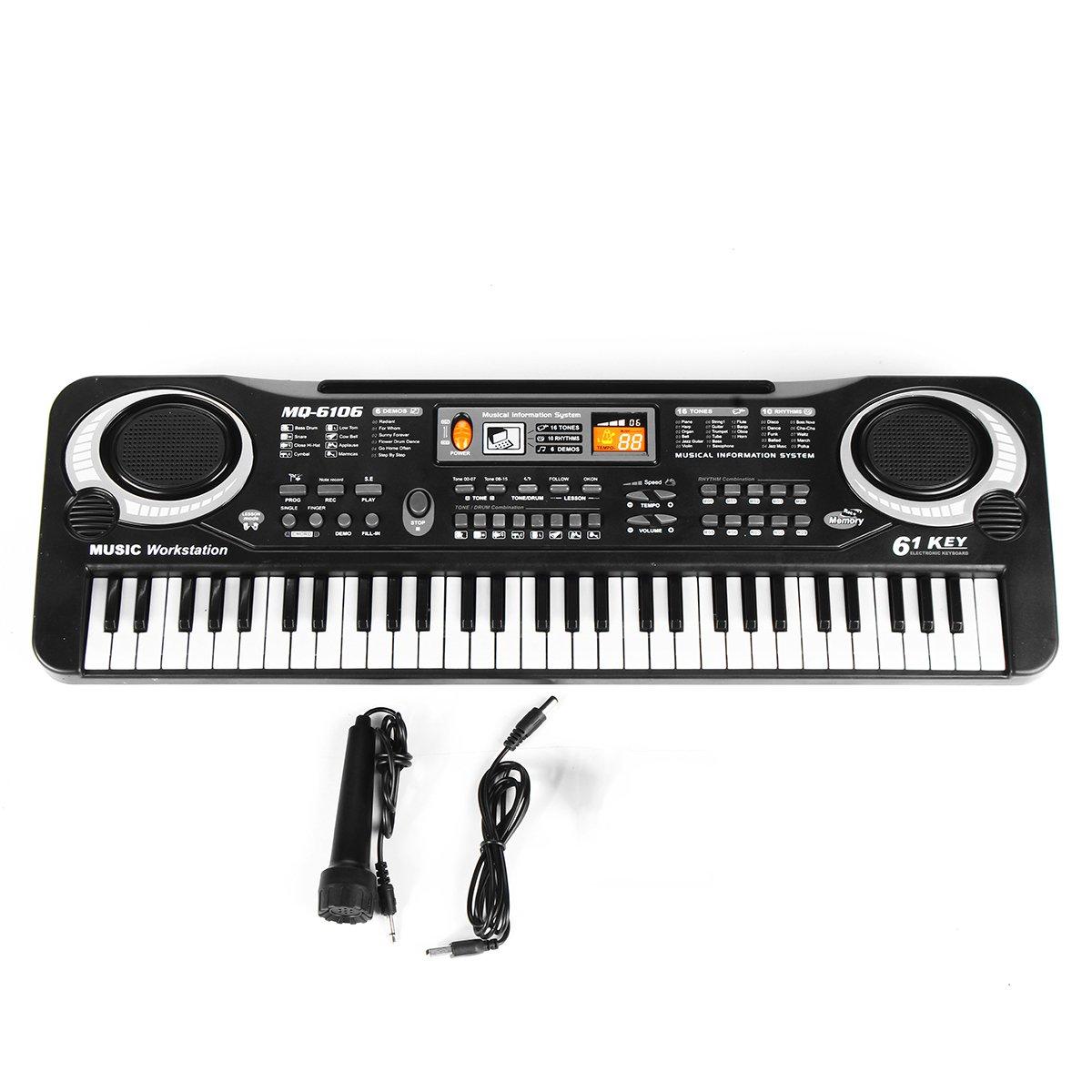 61 Keys Children's Electronic Keyboard Organ Piano Set With Microphone Set