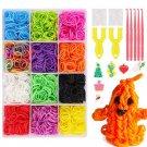 6800Pcs 22 Color Rubber Rainbows Loom Bands Set DIY Bracelet Silicone Elastic Rainbow Weave Loom Toy