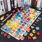 7 IN 1 Multi-Shape Wooden Colorful Jigsaw Puzzle Funny Fishing Early Education Toy for Kids Birthday