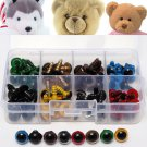 80Pcs 12mm Craft Plastic Colorful Safety Eyes for Teddy Bear Dolls Toy DIY Making Doll Accessories