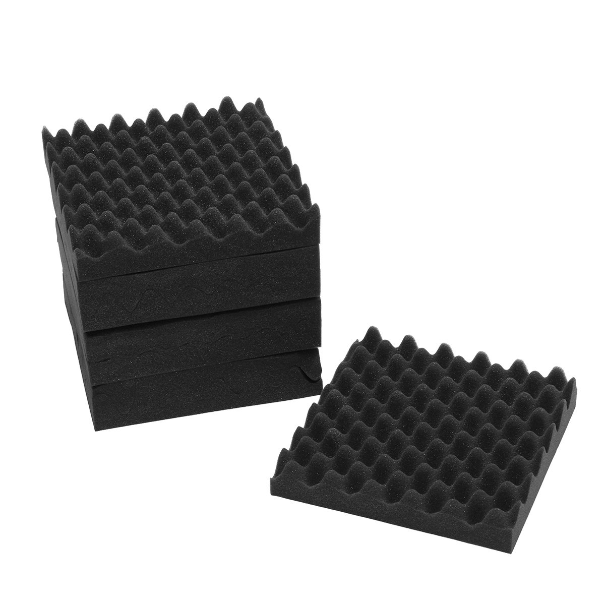 8PCS 12x12x2.5'' Acoustic Sound Studio Soundproof Foam Egg Crate Foam Wall Tile