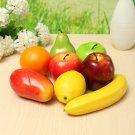 8PCS Lifelike Artificial Plastic Fruit Kitchen Simulation Display Home Food Decor