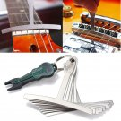 9Pcs Guitar Bass Under String Radius Gauge Setup for Luthier Stainless Steel Tools