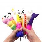 9PCS Squishy Pen Cap Wholesale Ice Cream Cone Animal Slow Rising Jumbo With Pen Stress Relief Toys