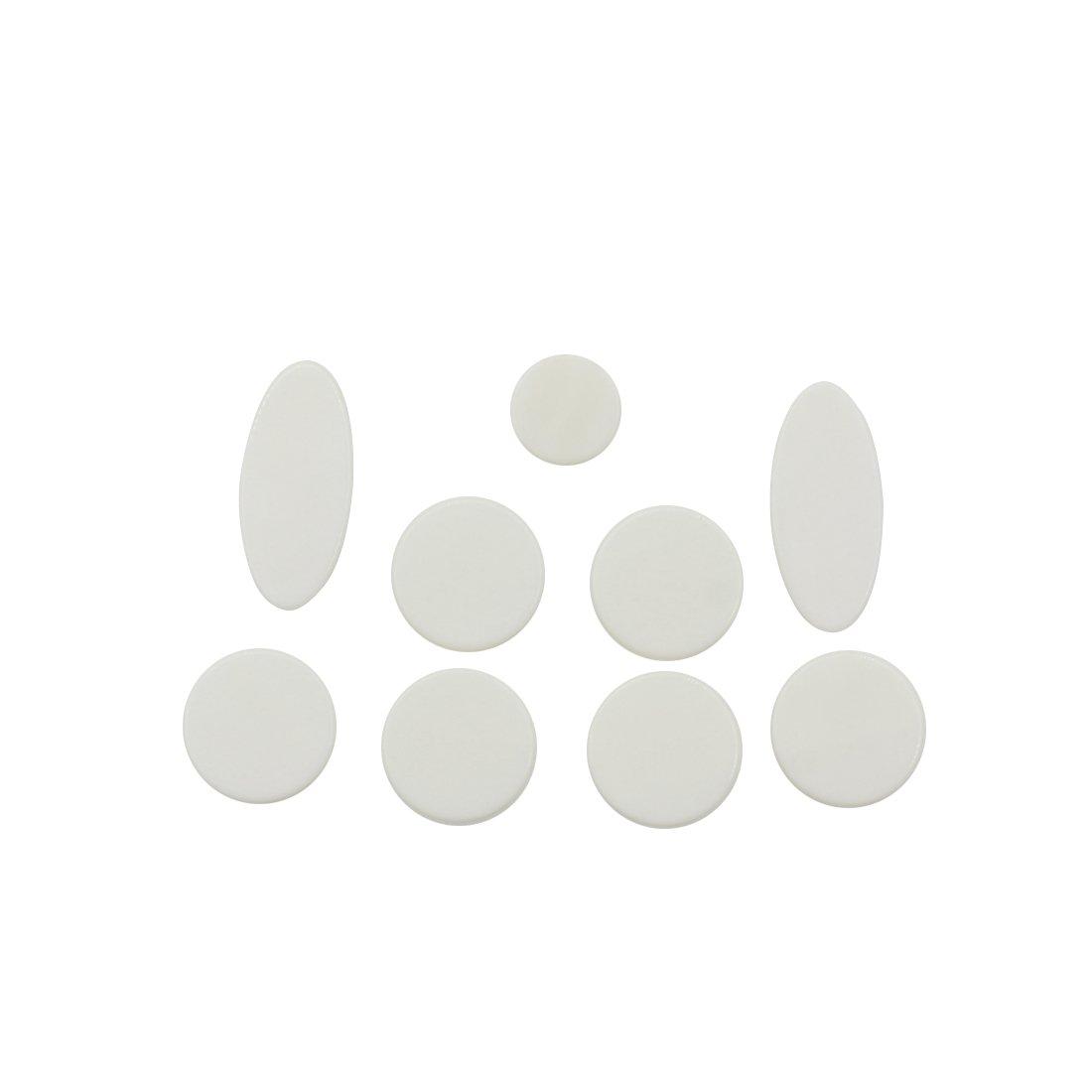 9pcs White Mother of Pearl Shell Key Button Inlays for Tenor/ Alto/ Soprano Sax Saxophone