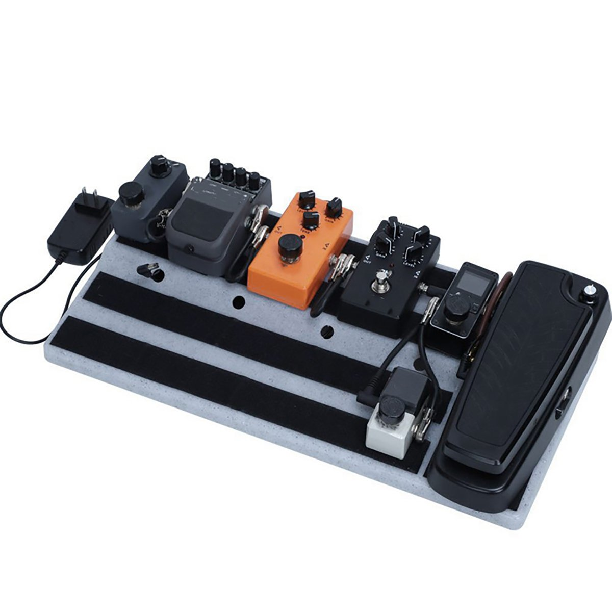 ABS Plastic Electric Guitar Effects Pedal Board with Screwdriver