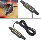 Adjustable Volume 12 Hole Sound Pickup Microphone Wire Amplifier Speaker for Acoustic Guitar With Co