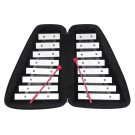 AF-30 Orff Musical Instrument Double Row 16 Keys Aluminum Piano Leather Box for Children Educational