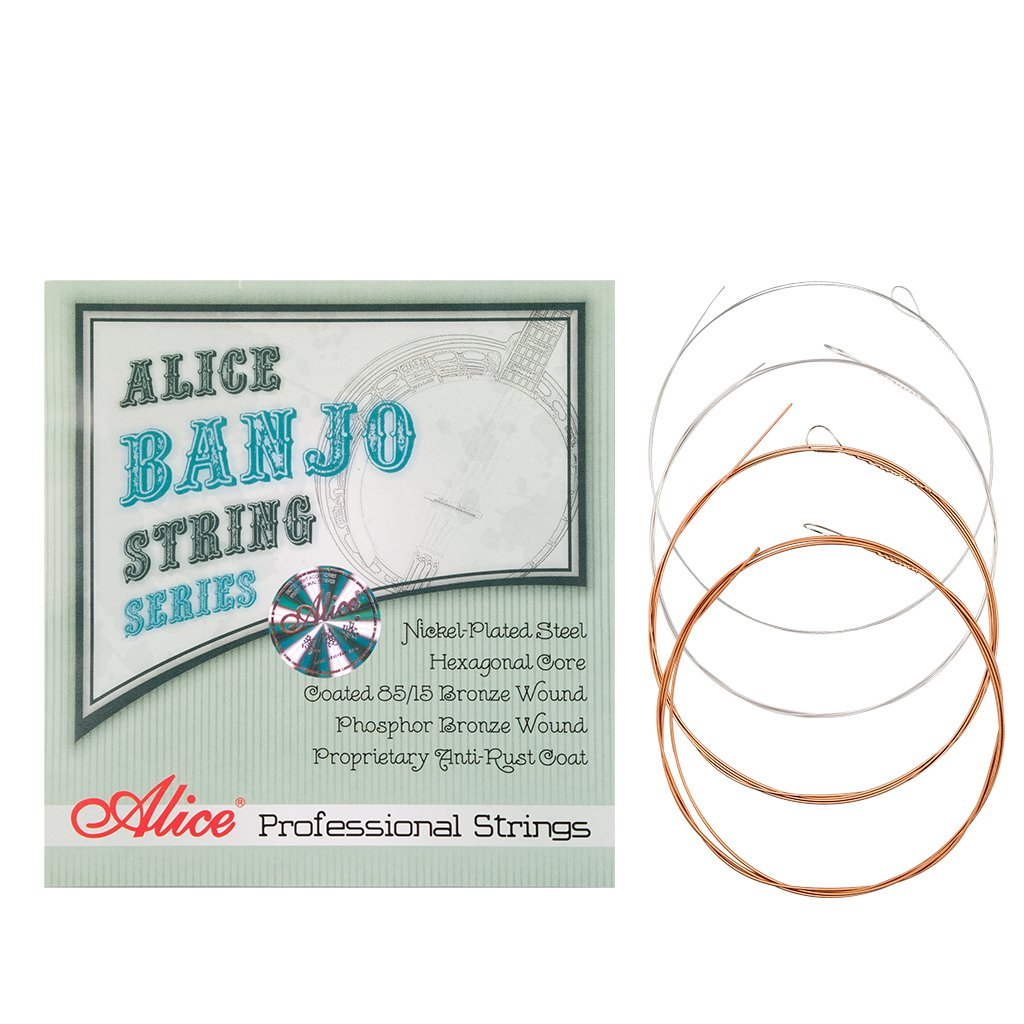 Alices 1 Set Banjo String AJ07 Banjo Strings 009 to 030 inch Plated Steel Coated Nickel Alloy Wound