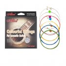 Alices Colorful Acoustic Guitar Strings AW435C Coated Steel strings Guitar accessories