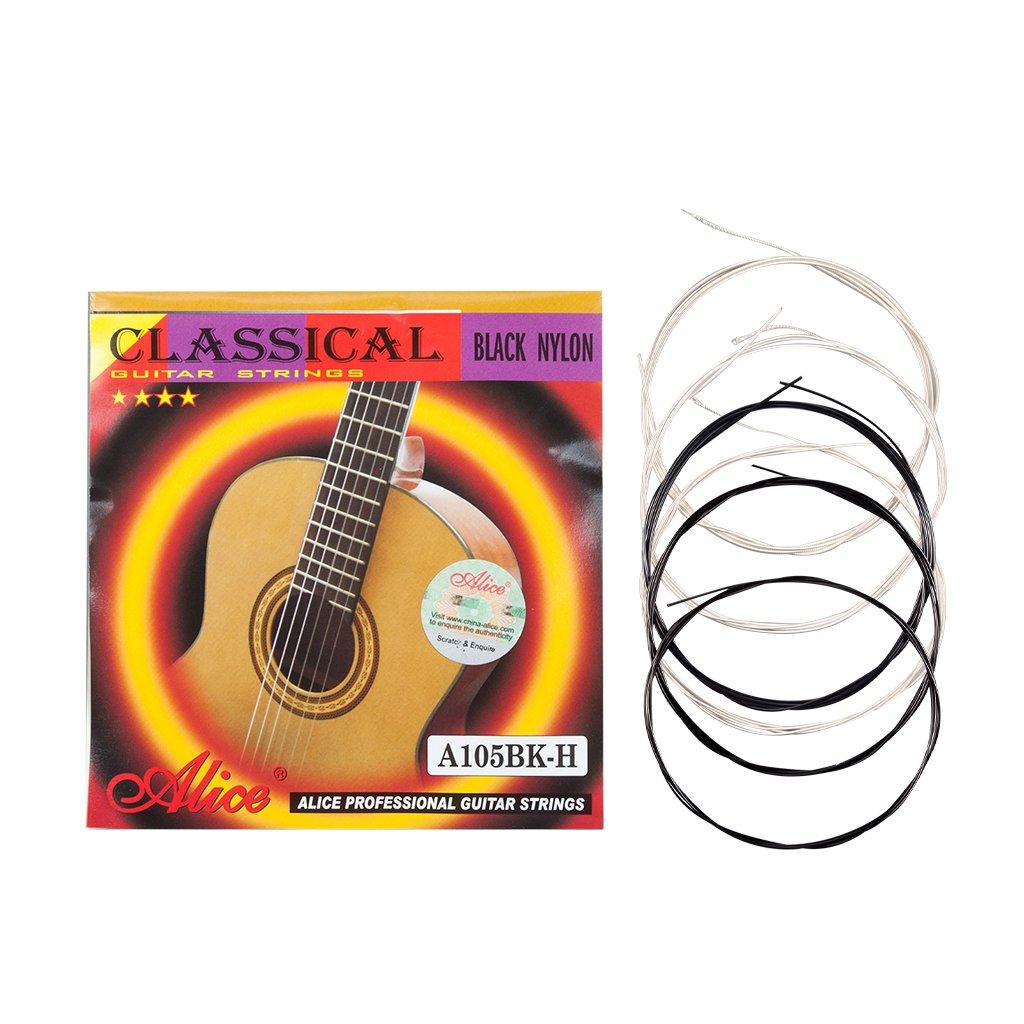 Alices Series black nylon Classical Guitar Strings A105BK-H Nylon Core Siver-Plated Copper Alloy Win