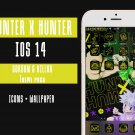 IOS 14 Hunter X Hunter Anime App Icons - Aesthetic Iphone Home Screen - IOS14 App Covers