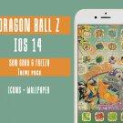 IOS 14 Dragon Ball Z Iphone Home Screen Theme - IOS14 Anime App Icons and Wallpaper