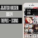 IOS 14 Jujutsu Kaisen Iphone Home Screen Theme - IOS14 Anime App Icons and Wallpaper