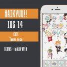 IOS 14 Cute Anime App Icons - Haikyuu Aesthetic Iphone Home Screen - IOS14 App Covers