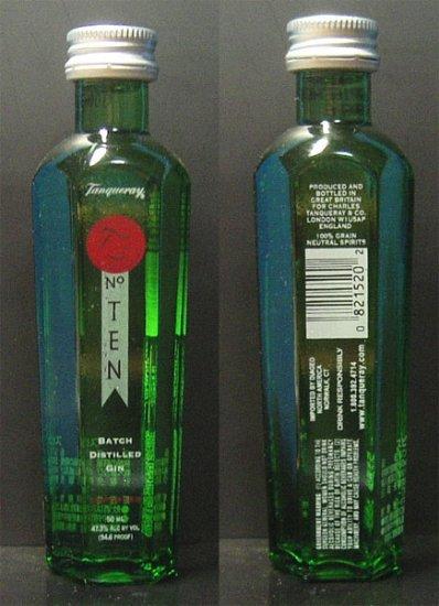 TANQUERAY number TEN GIN 50 ml miniature bottle JAPAN