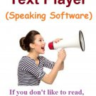 Text Player Speaking Software