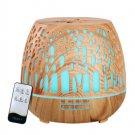 Devanti Aroma Diffuser Aromatherapy Humidifier Essential Oil Ultrasonic Cool Mist Wood Grain 400ml