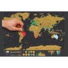 Mini Black Scratch Off Paper World Map Poster 42.3 * 30cm 42.3 * 30cm