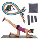 Resistance Band Exercise Fitness Tube Band Yoga Gym Stretch Pull Rope Pilates Band