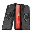 OPPO A91 Case Armor Finger Ring Silicone Shockroof Bumper Hard Case