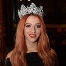 Bridal crown hairpiece Crystal crown headband Wedding tiara for bride