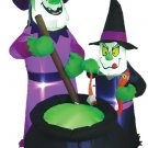 Witches Brew Inflatable With LED holiday lawn decorations animated airblown decorations