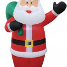 8' Santa Inflatable holiday lawn decorations animated airblown decorations