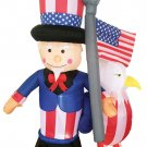 6' Inflatable Uncle Sam With Eagle lawn decorations animated airblown decorations
