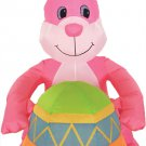 4' Inflatable Pink Bunny With Egg lawn decorations animated airblown decorations