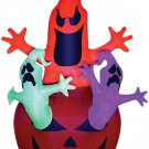 Airblown Pumpkin With Neon Color Ghosts Trio Inflatable lawn decorations animated airblown