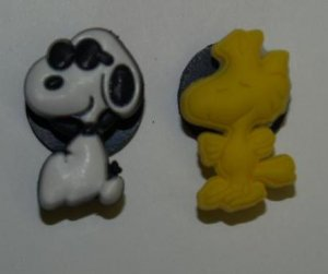 Set of 2 Snoopy and Woodstock Croc Shoe Charms