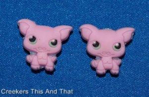 Set of 2 Littlest Pet Shop Piggie Croc Shoe Charms