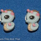 Set of 2 Littlest Pet Shop Seahorse Croc Shoe Charms