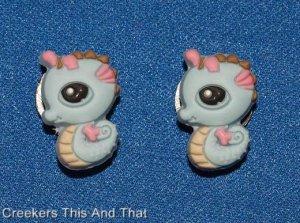 Set of 2 Littlest Pet Shop Seahorse Croc Shoe Charms