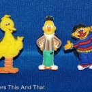 Set of 3 Sesame Street Crocs Shoe Charms Featuring Big Bird, Bert and Ernie