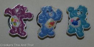 Set of 3 Care Bears Shoe Charms